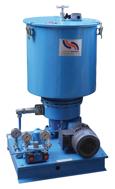 Two (Dual) Line Motorized Pump Grease with Reversing Valve