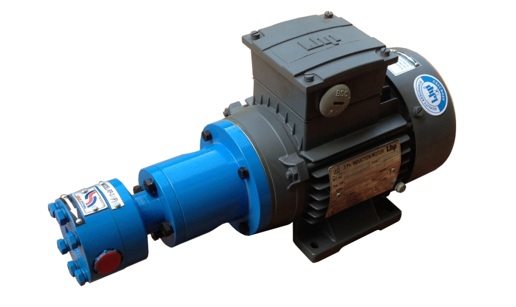 Pump Without Inbuilt Relief Valve and Foot Cum Face Mounted Motor
